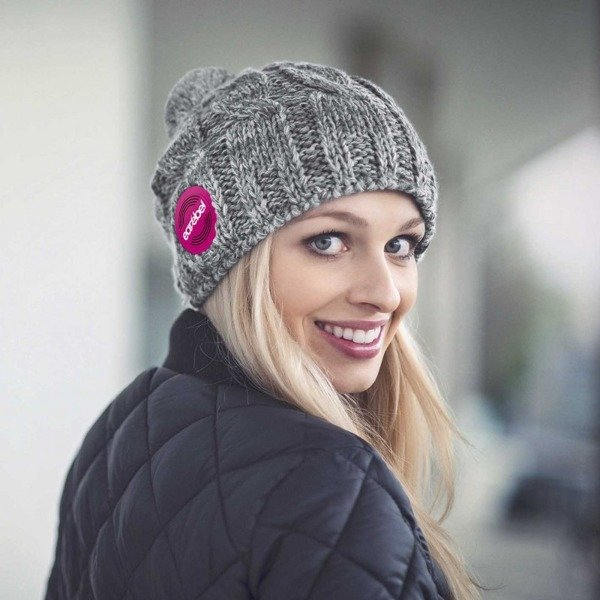 Bluetooth® Trenza Beanie Grey