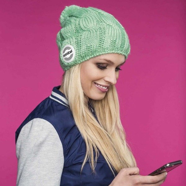 Bluetooth® Trenza Beanie Mint