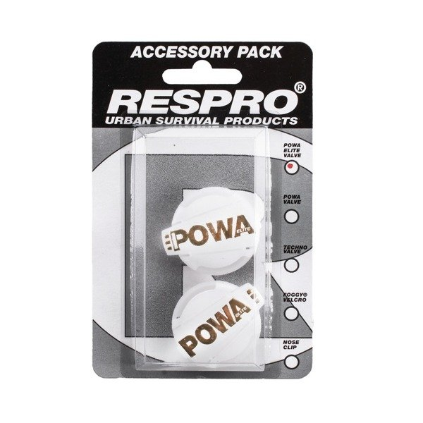 Powa Elite Valve Pack White/Gold